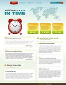News related web page infographics template — Stockvector