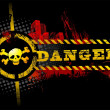 Black UrbGrunge Danger Skull — Stock Vector #7418024