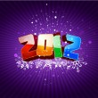 Happy new 2012 year greeting card — Imagen vectorial