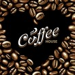Coffee vector background — Stok Vektör
