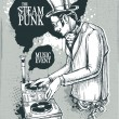Vetorial Stock : Steampunk musical poster