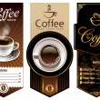 Three coffee design templates - Vettoriali Stock 