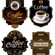Three coffee design templates - Stock Vector