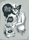 Steampunk musical poster — Vetorial Stock