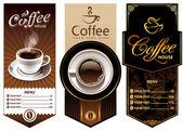 Três modelos de design café — Vetorial Stock