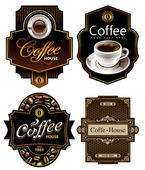 Three coffee design templates — Stok Vektör