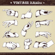 Set of vintage hands — Stock Vector #7350020