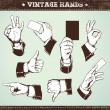 Set of vintage hands — Stock Vector #7350024