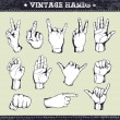 Royalty-Free Stock Imagem Vetorial: Set of vintage hands