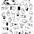 Set of vintage hands — Stock Vector #7350028