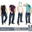 Set of headless guys — Stock Vector #7350033