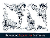 Set of heraldic flourish patterns — Vecteur