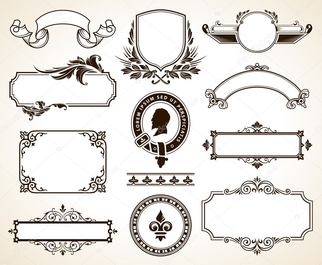 Vector set of calligraphic design elements stock vector for Decoration elements