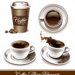Vetorial Stock : Vector set of coffee cups