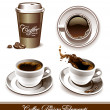 Vector set of coffee cups - Stock Vector