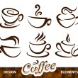 Vector set of coffee design elements — Stock Vector