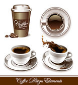 Vector set of coffee cups — Vecteur