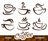 Vector conjunto de elementos de diseño de café. — Vector de stock