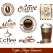 Vector set of coffee design elements - Imagens vectoriais em stock