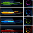 Vector set of high-tech progress indicators — Stock Vector