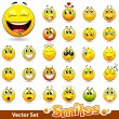 Stock Vector: Vector set of cute smile-balls