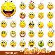 Vector set of cute smile-balls — Stock Vector