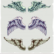 Stockvektor : Vector set of wings