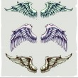 Vector set of wings — Stock vektor #7491494