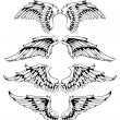 Vettoriale Stock : Vector set of wings