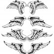 Vector set of wings — Stock vektor #7491506