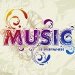 Hand drawn music lettering — Stock Vector