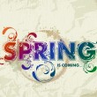 Hand drawn spring lettering - Stock Vector