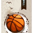Stock Vector: Grunge basketball illustration