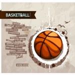 Grunge basketball illustration — Stock Vector #7491718