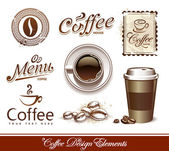 Vector set of coffee design elements — Vetorial Stock