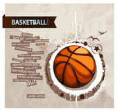 Grunge basketball illustration — Stock Vector