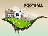 Vector illustration of surreal soccer field — Vetorial Stock