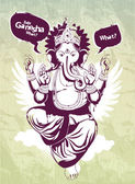 Graffiti image with indian idol Ganesha — Stock Vector