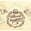 Calligraphic Christmas lettering — Stock Vector