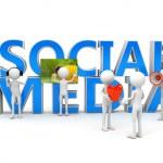 Social media concept over white — Stock Photo