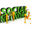 Social network concept over white - Stock Photo