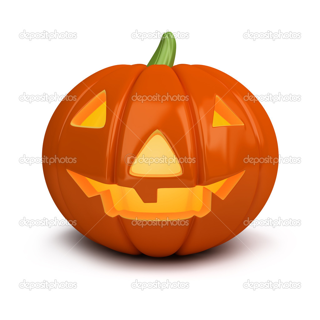 3d image. Festive pumpkin. Halloween. Isolated white background. — Stock Photo #6928927