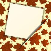 Herbst hintergrund mit einem leeren papier. eps 10 — Stockvektor