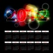 Bright 2012 calendar — Stock Vector