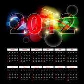 Bright 2012 calendar — Stock Vector