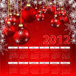 Royalty-Free Stock Vector Image: Bright 2012 calendar