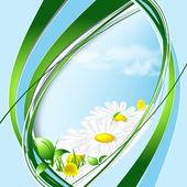 Floral abstrait backdrop — Vecteur