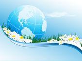 Environmental abstract backdrop — Stock Vector