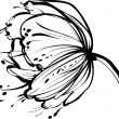 Vector de stock : White flower bud