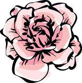 Délicate fleur rose — Vecteur